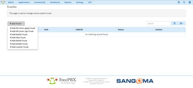 FreePBX 14 - настройка SIP транка